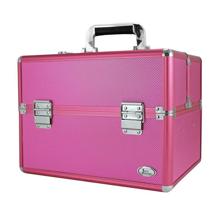 Maleta Profissional de Maquiagem Tamanho G Pink