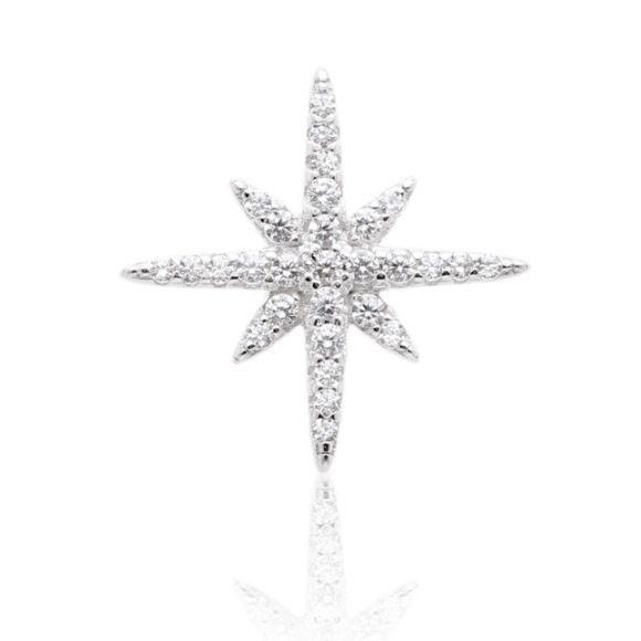 Piercing Fake Estrela em Prata
