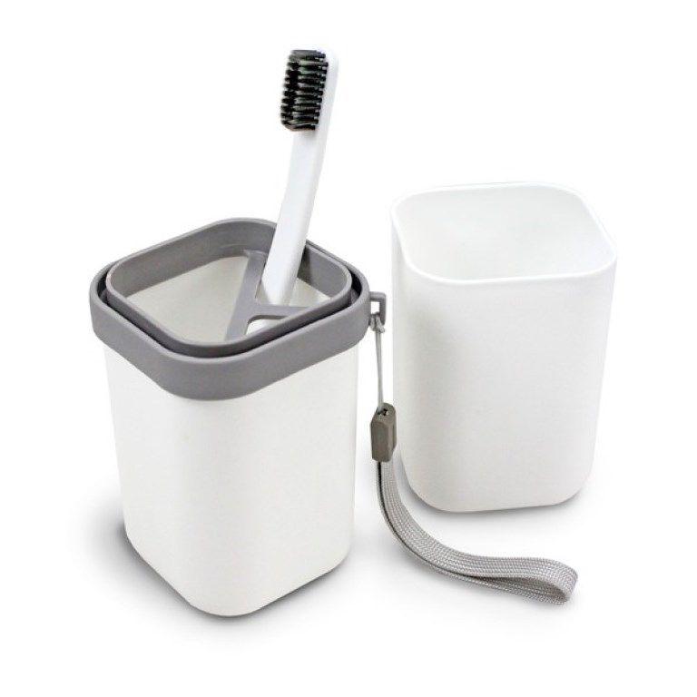 Porta Objetos de Viagem para Escova e Creme Dental