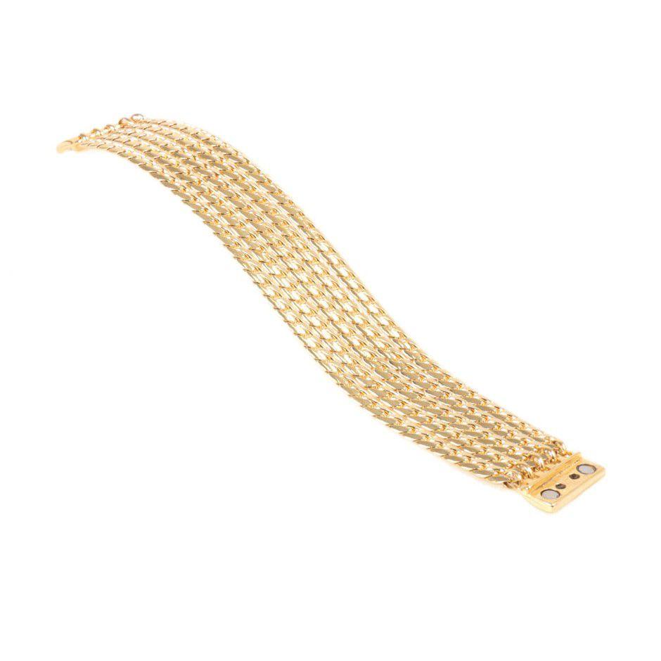 Pulseira Banho Ouro 5 correntes