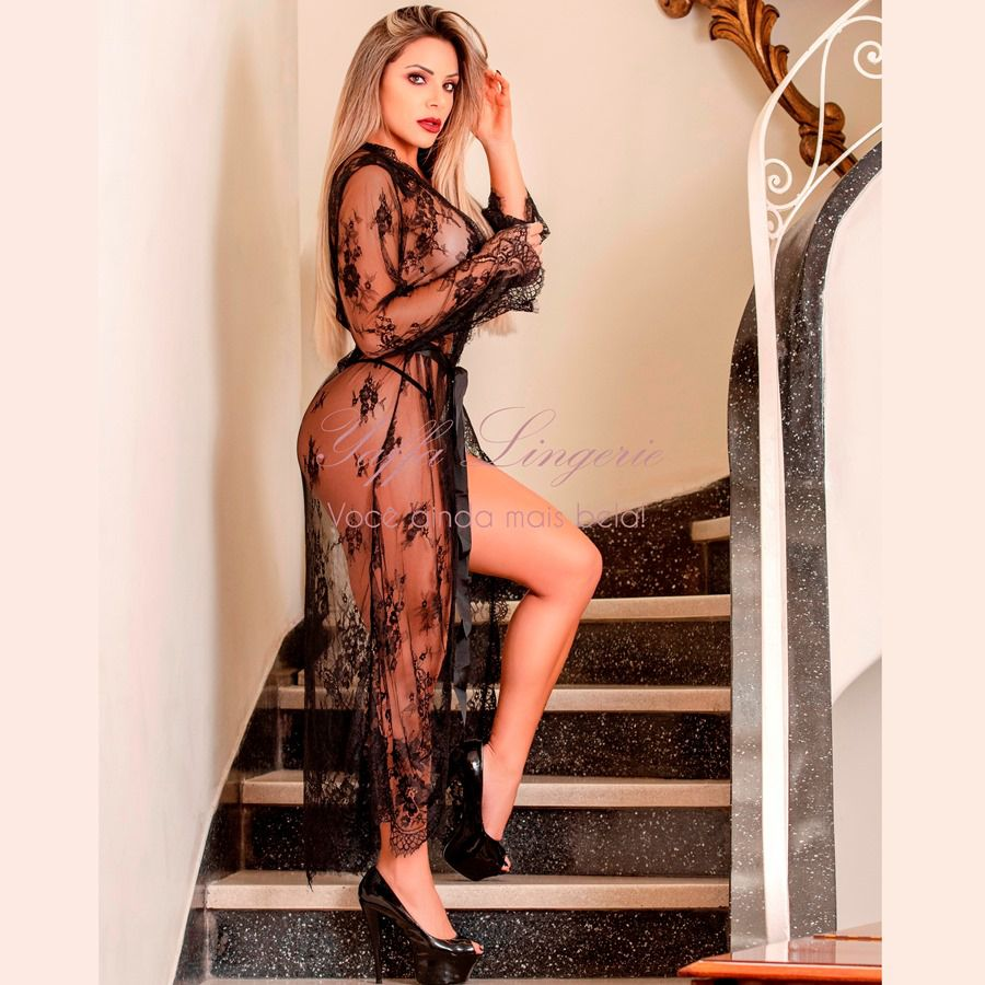 Robe Luxo Black 2059 Tamanho Único