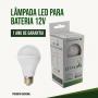 Lâmpada Led Bulbo 12V ou 24V 9W  Branco 6500K / Energia Solar,barco,Pesca