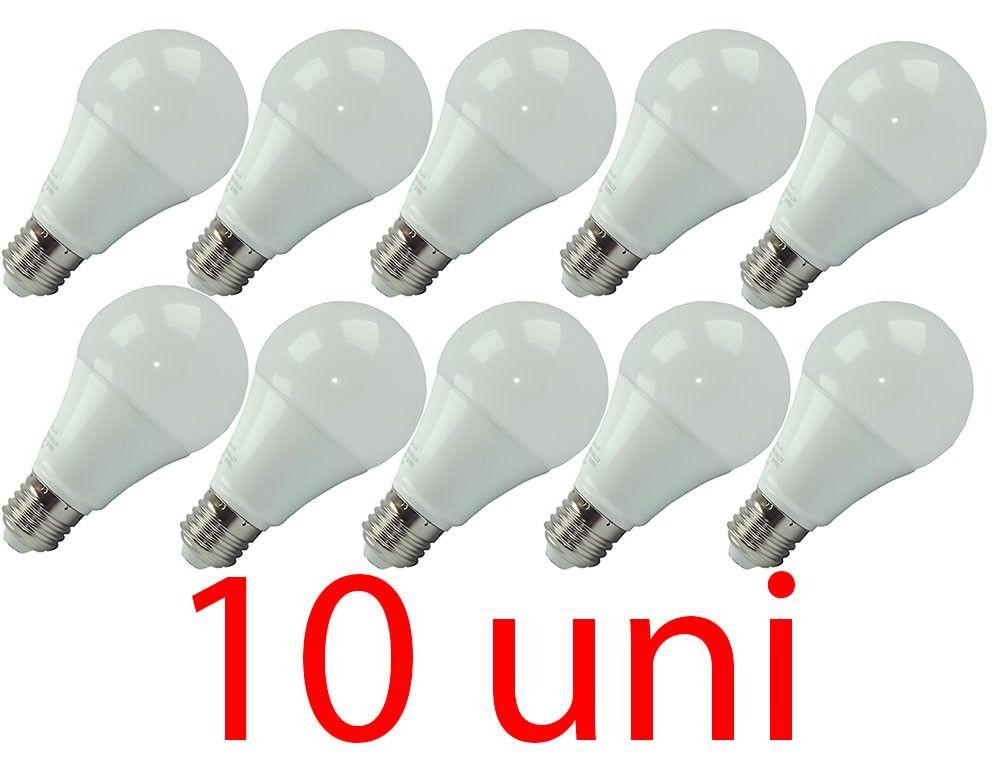 kit 10 Lampadas LED Bulbo tradicional 7w  E27 Branco Frio