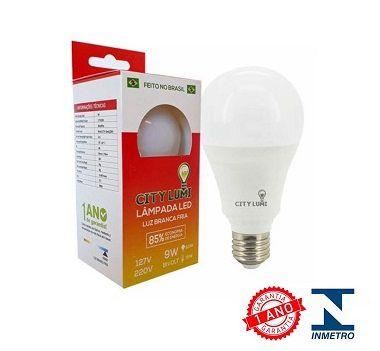 Lâmpada Led Comum 9w E27 - 801 Lumens - Super Econômica