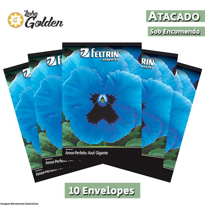 10 envelopes - Sementes de Amor-Perfeito Azul Gigante Suíço - Atacado - Feltrin - Linha Golden