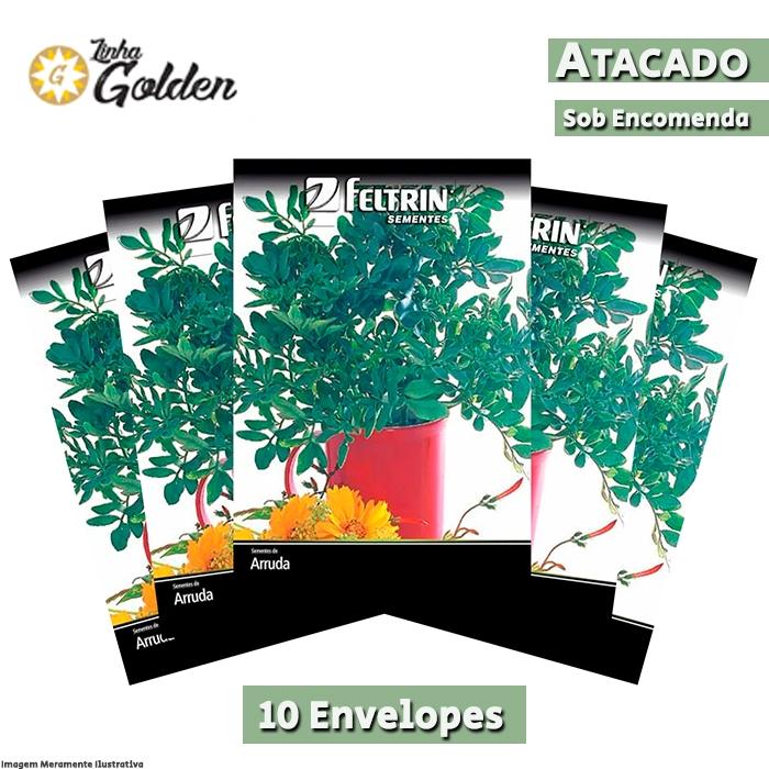 10 Envelopes - Sementes de Arruda - Atacado - Feltrin - Linha Golden