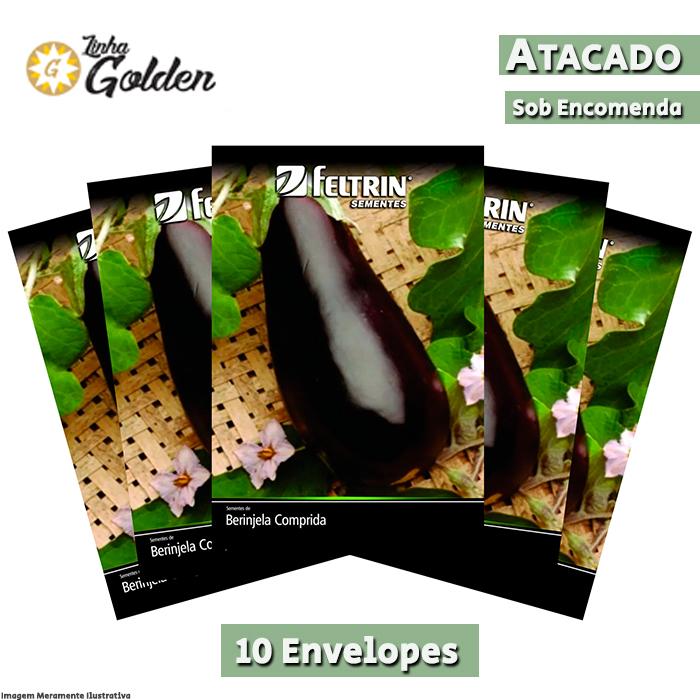 10 Envelopes - Sementes de Berinjela Embú - Atacado - Feltrin - Linha Golden