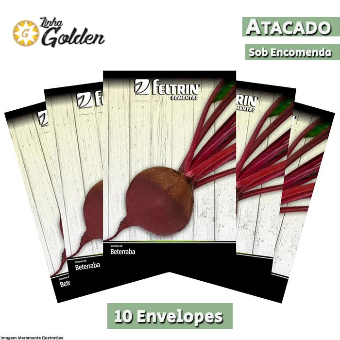 10 Envelopes - Sementes de Beterraba Katrina - Atacado - Feltrin - Linha Golden