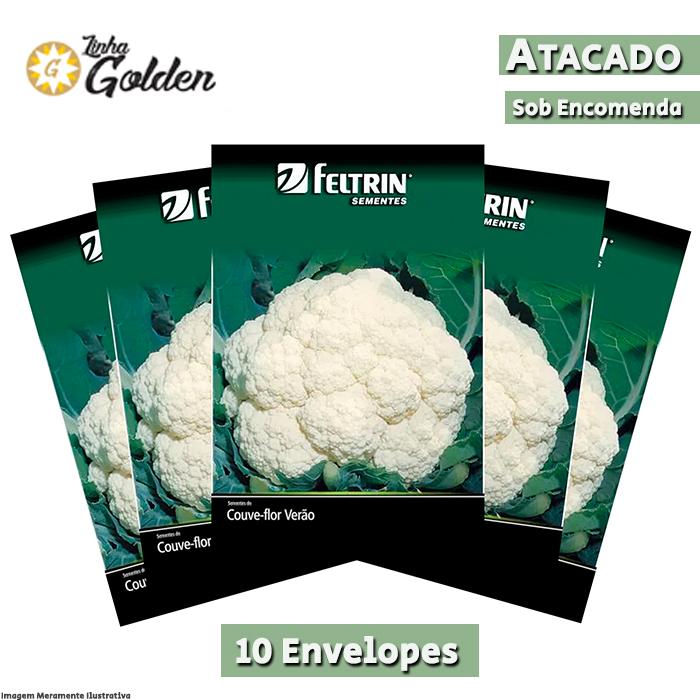 10 Envelopes - Sementes de Couve-Flor Piracicaba Precoce Sf 59 - Atacado - Feltrin - Linha Golden