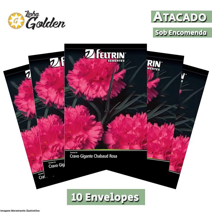 10 Envelopes - Sementes de Cravo Rubelito - Atacado - Feltrin - Linha Golden