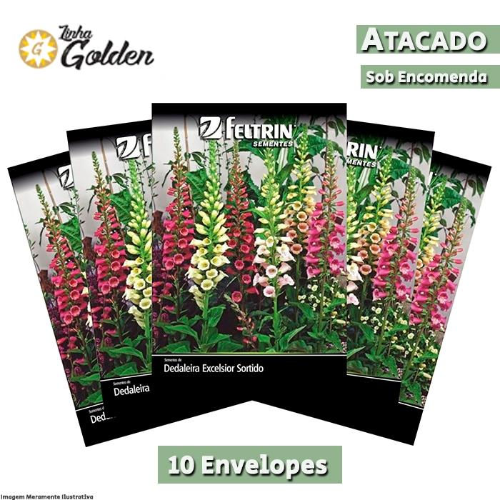 10  Envelopes - Sementes de Dedaleira Excelsior Sortido - Atacado - Feltrin - Linha Golden