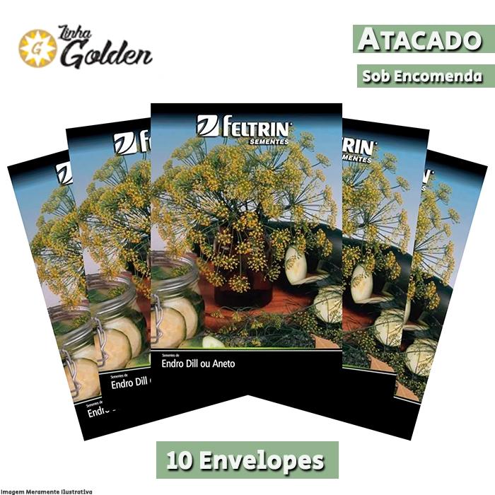 10 Envelopes - Sementes de Endro Dill Ou Aneto - Atacado - Feltrin - Linha Golden