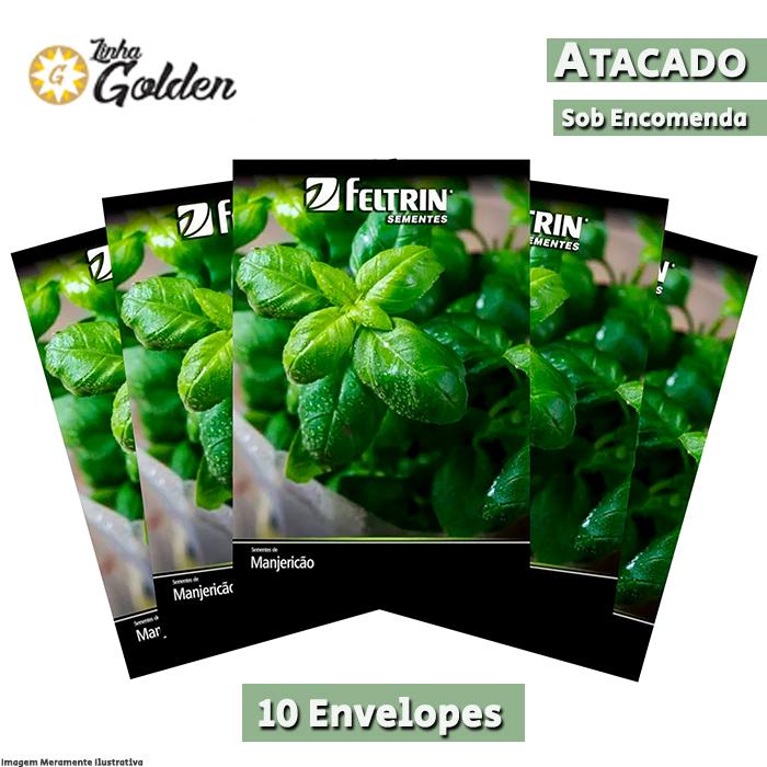 10 Envelopes - Sementes de Manjericão Sabory - Atacado - Feltrin - Linha Golden