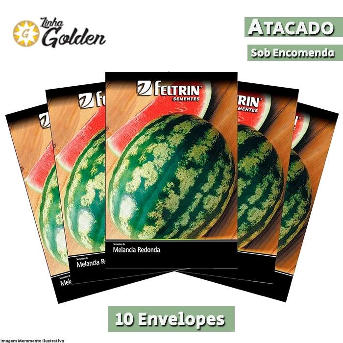10 Envelopes - Sementes de Melancia Crimson Select Plus  - Atacado - Feltrin - Linha Golden