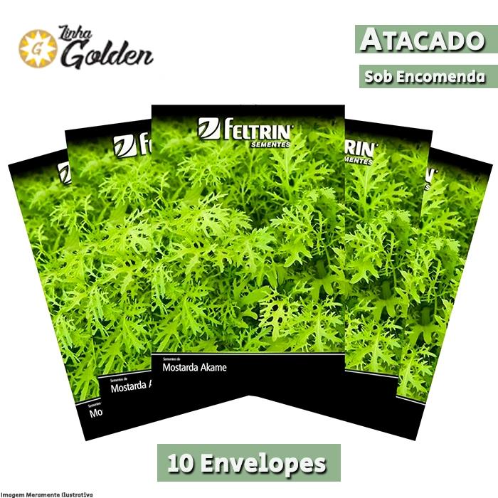 10 Envelopes - Sementes de Mostarda Akame - Atacado -  Feltrin - Linha Golden