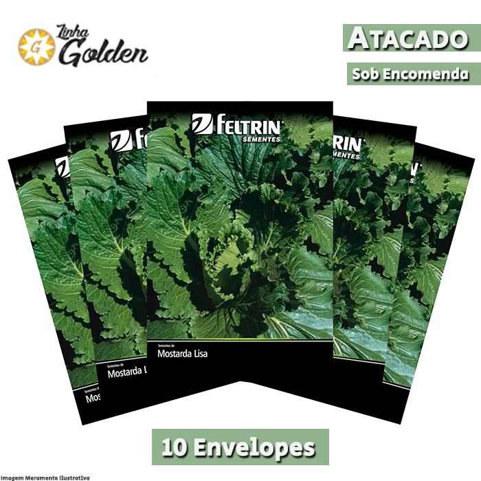 10 Envelopes - Sementes de Mostarda Lisa Flórida - Atacado -  Feltrin - Linha Golden