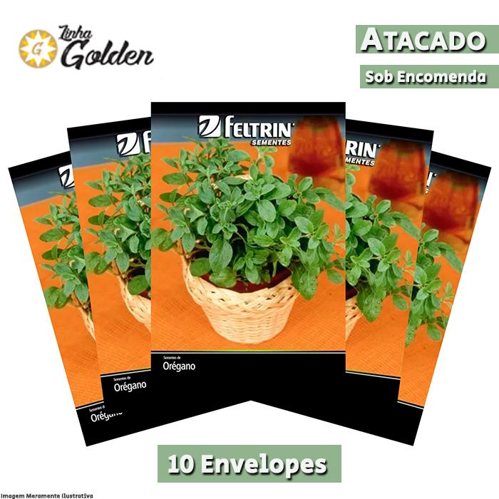 10 Envelopes - Sementes de Orégano - Atacado - Feltrin - Linha Golden