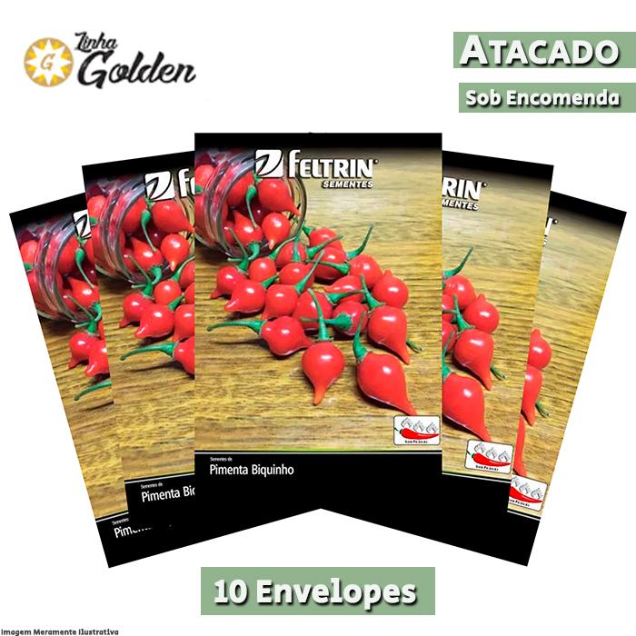 10 Envelopes - Sementes de Pimenta Bico - Atacado - Feltrin - Linha Golden
