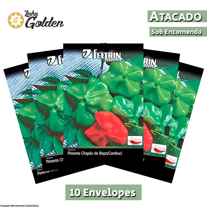 10 Envelopes - Sementes de Pimenta Chapéu De Bispo / Cambuci - Atacado - Feltrin - Linha Golden