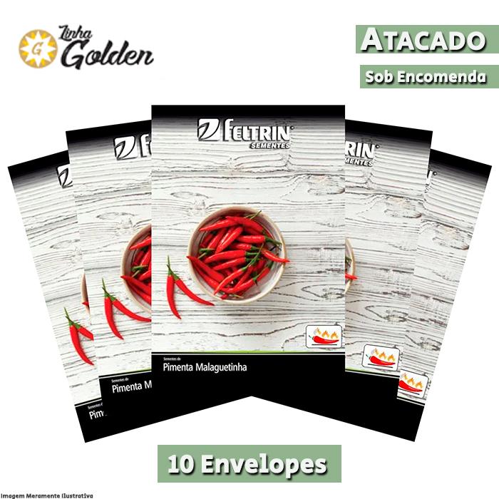 10 Envelopes - Sementes de Pimenta Malaguetinha Hot Pepper - Feltrin - Linha Golden