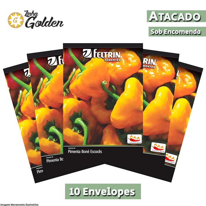 10 Envelopes - Sementes de Pimenta Nuclear - Atacado - Feltrin - Linha Golden