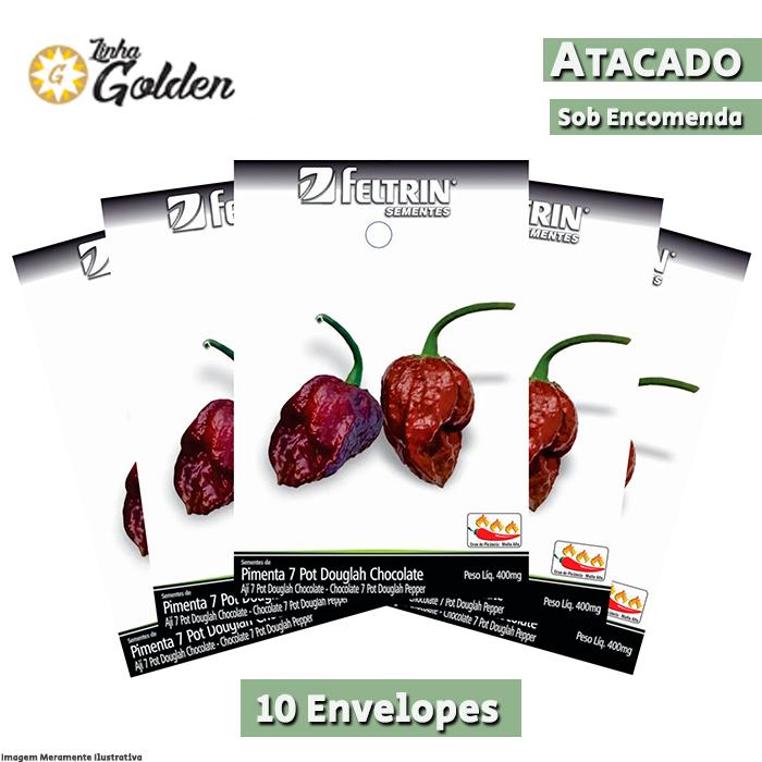 10 Envelopes - Sementes de Pimenta Sasha - Atacado - Feltrin - Linha Golden