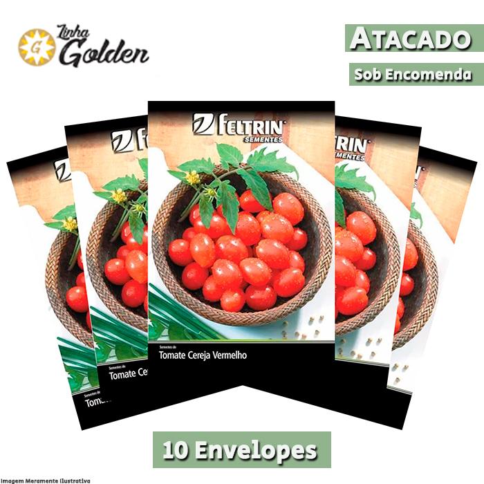 10 Envelopes - Sementes de Tomate Cereja Carolina - Atacado - Feltrin - Linha Golden