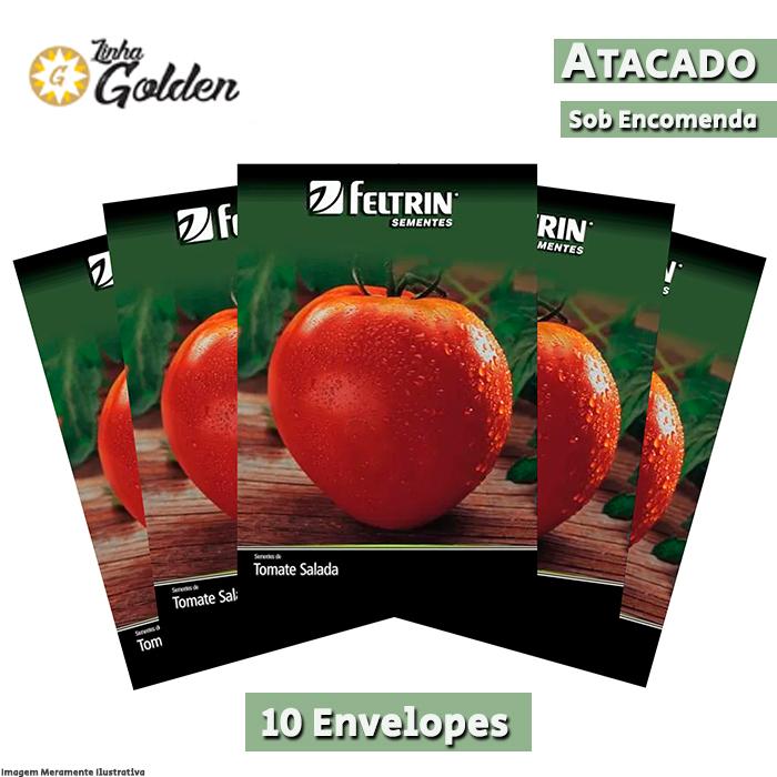 10 Envelopes - Sementes de Tomate Coração de Boi - Atacado - Feltrin - Linha Golden