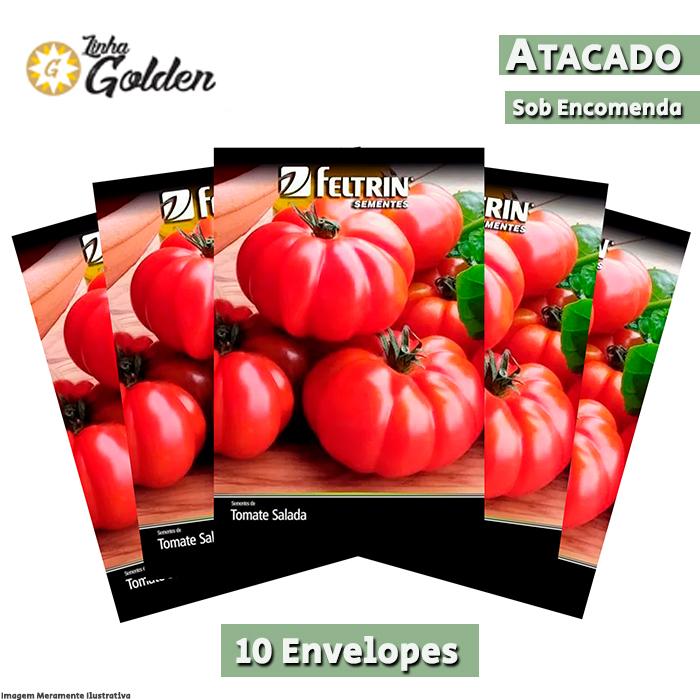 10 Envelopes - Sementes de Tomate Enrugueto - Atacado - Feltrin - Linha Golden