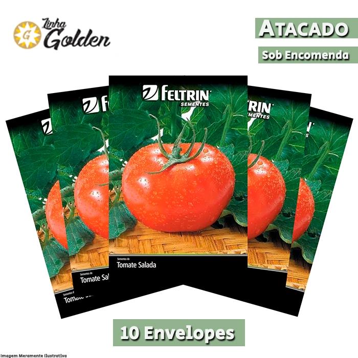 10 Envelopes - Sementes de Tomate Gaúcho - Atacado - Feltrin - Linha Golden
