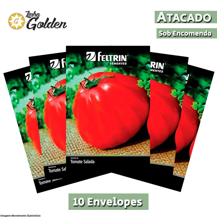 10 Envelopes - Sementes de Tomate Pereto - Atacado - Feltrin - Linha Golden
