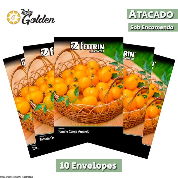 10 Envelopes - Sementes de Tomate Yashi - Atacado - Feltrin - Linha Golden