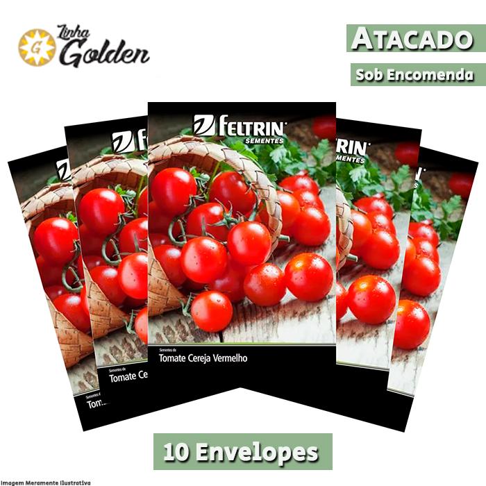 10 Envelopes - Sementes de Tomate Yubi - Atacado - Feltrin - Linha Golden