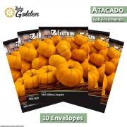 10 Envelopes -  Sementes de Abóbora Mini Joaquina - Atacado - Feltrin - Linha Golden