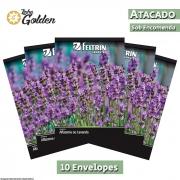 10 envelopes - Sementes de Alfazema Ou Lavanda - Atacado - Feltrin - Linha golden