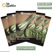 10 Envelopes - Sementes de Abóbora Goianinha - Atacado - Feltrin - Linha Golden