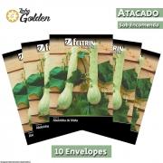 10 Envelopes - Sementes de Abobrinha Pira Moita - Atacado - Feltrin - Linha Golden