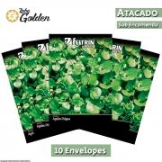 10 Envelopes - Sementes de Agrião Lumiar - Atacado - Feltrin - Linha Golden