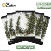 10 Envelopes - Sementes de Alecrim Orvalho do Mar - Atacado - Feltrin - Linha Golden