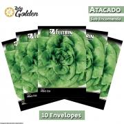 10 Envelopes - Sementes de Alface Babá De Verão - Atacado - Feltrin - Linha Golden