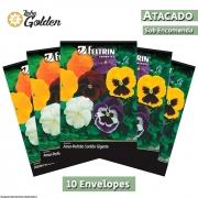 10 Envelopes - Sementes de Amor Perfeito Sortido Gigante Suíço com Máscara - Atacado - Feltrin - Linha Golden