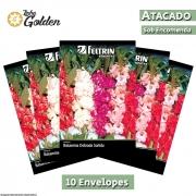 10 Envelopes - Sementes de Balsamina Dobrada Sortida - Atacado - Feltrin - Linha Golden