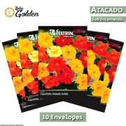 10 Envelopes - Sementes de Capuchinha Semi-Dobrada Sortida - Atacado - Feltrin - Linha Golden
