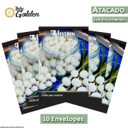 10 Envelopes - Sementes de Cebola Branca de Conserva - Atacado - Feltrin - Linha Golden