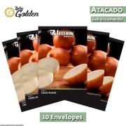 10 Envelopes - Sementes de Cebola Crioula Conesul - Atacado - Feltrin - Linha Golden