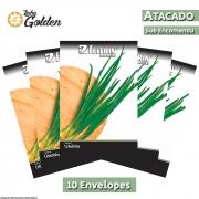 10 Envelopes - Sementes de Cebolinha Todo Ano Evergreen Nebuka - Atacado - Feltrin - Linha Golden