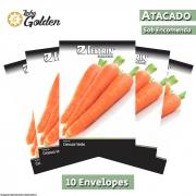 10 Envelopes - Sementes de Cenoura Brasília Irecê - Atacado - Feltrin - Linha Golden