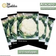10 Envelopes - Sementes de Couve-flor Das Quatro Estações - Atacado - Feltrin - Linha Golden