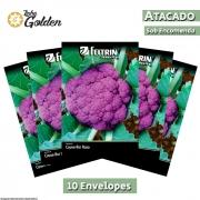 10 Envelopes - Sementes de Couve-Flor Filipinas - Atacado - Feltrin - Linha Golden