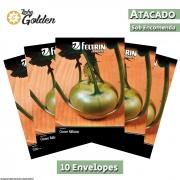 10 Envelopes - Sementes de Couve-Rábano Branca De Viena - Atacado - Feltrin - Linha Golden